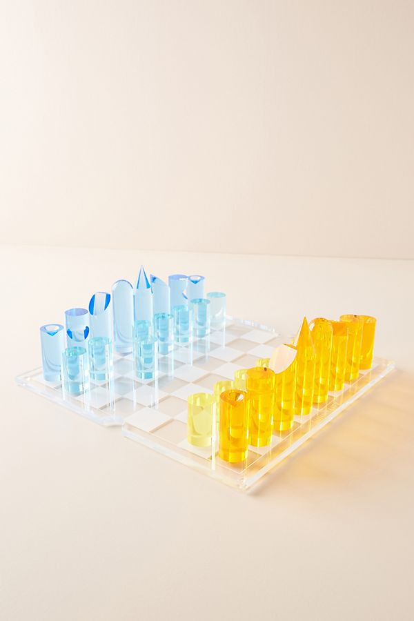 Slide View: 1: Sunnylife Lucite Chess Set