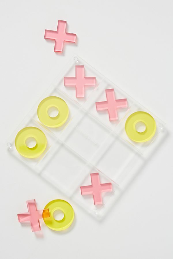 Slide View: 1: Sunnylife Holiday Lucite Tic-Tac-Toe Game