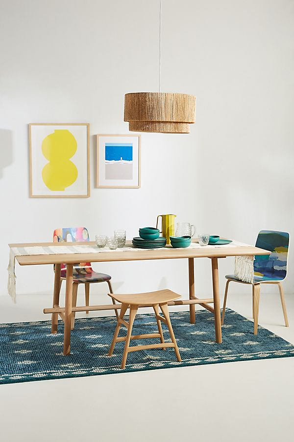 Slide View: 1: Oak Profile Dining Table