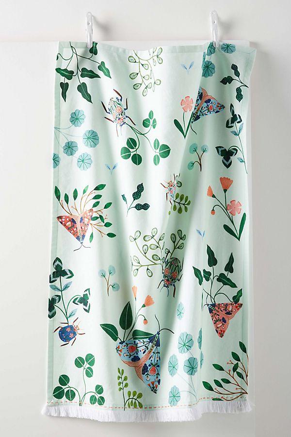 Slide View: 1: Flora Waycott Botanical Garden Dish Towel