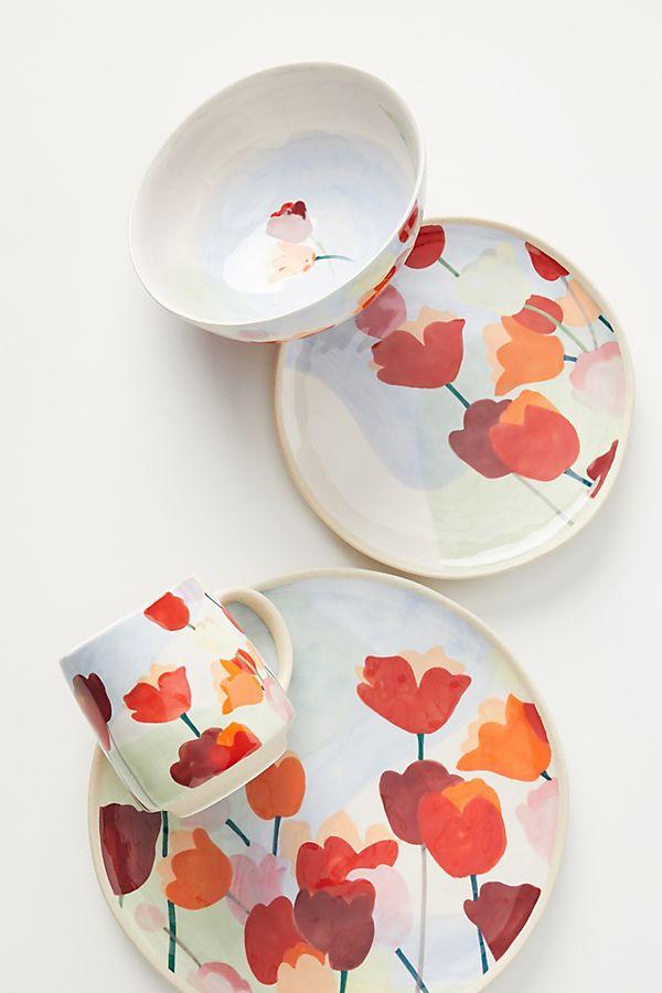 Slide View: 3: Tulip Dinner Plates, Set of 4