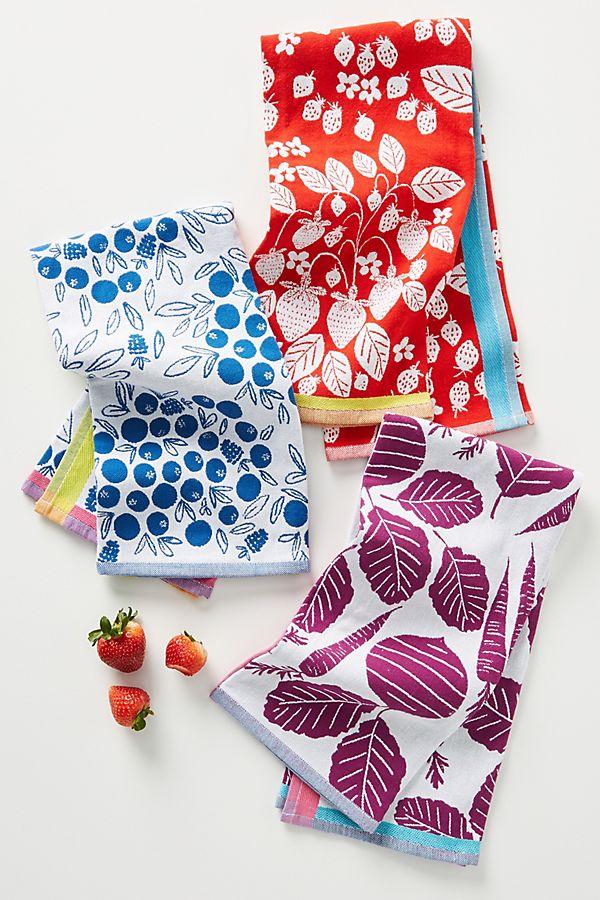 Slide View: 1: Fruit Dish Towels, Set of 3