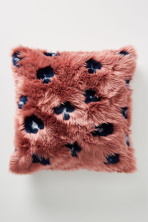 Slide View: 1: Dalia Faux Fur Pillow