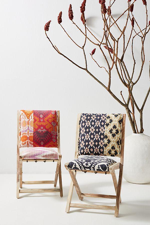 Slide View: 2: Ikat Medley Terai Folding Chair