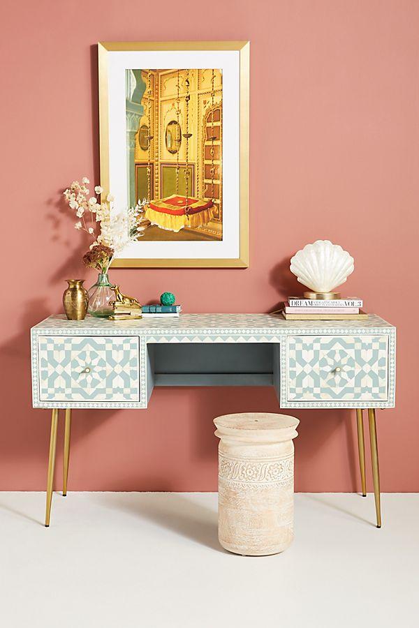 Slide View: 1: Moroccan Inlay Desk