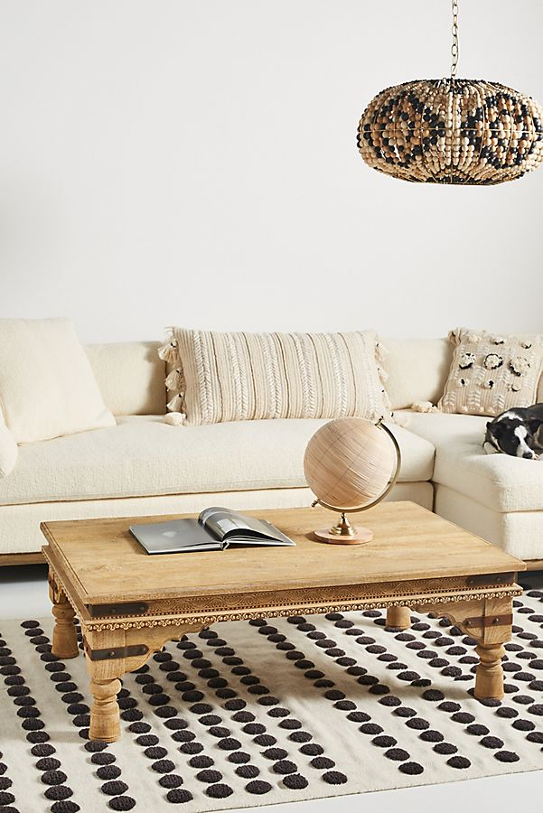 Slide View: 1: Handcarved Athena Coffee Table