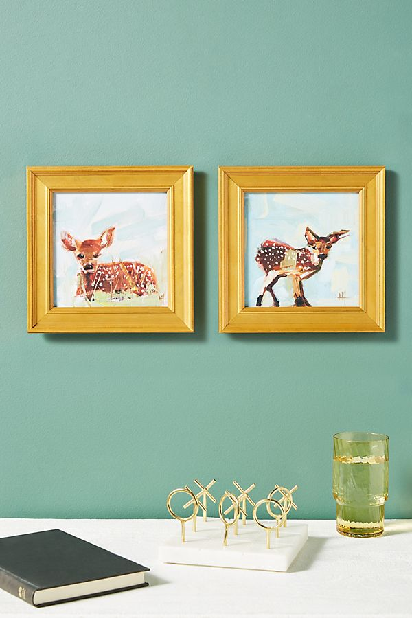 Slide View: 2: Baby Fawn Wall Art