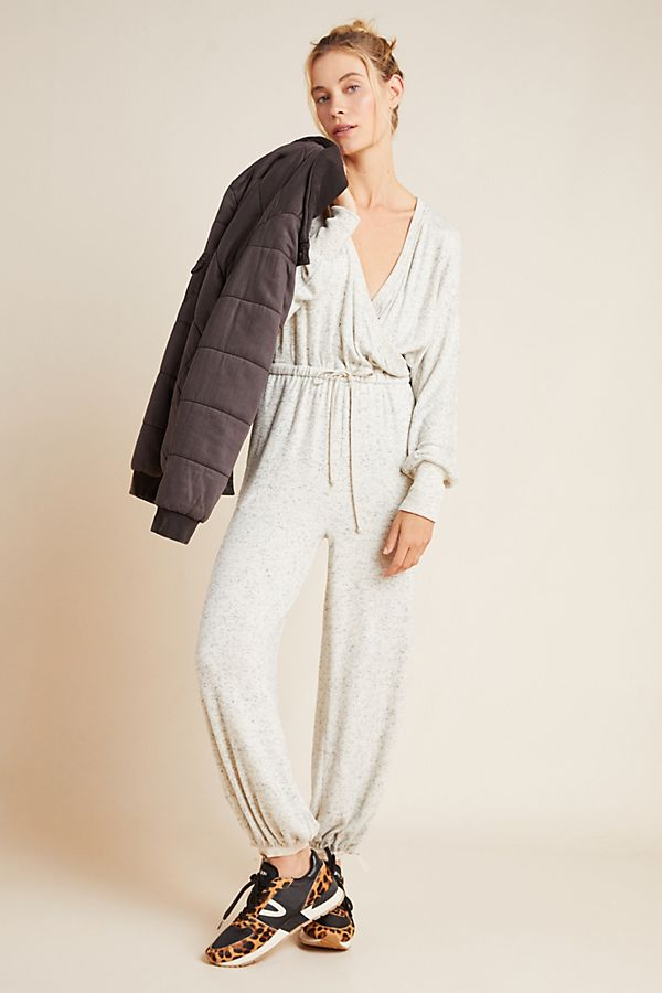 Slide View: 1: Brushed Fleece Jumpsuit