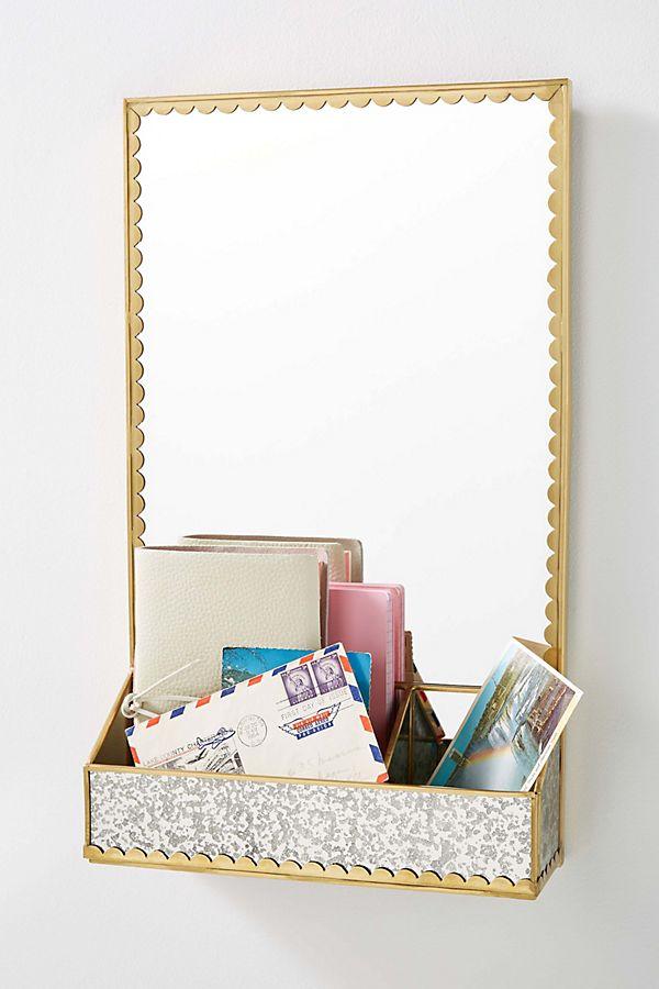 Slide View: 1: Scalloped Storage Mirror