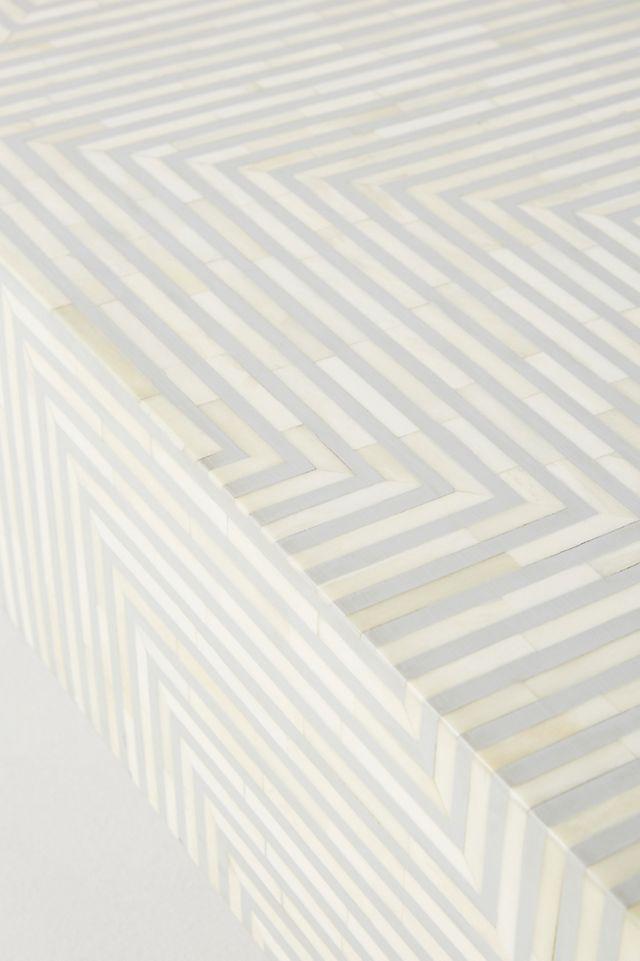 Savi Striped Inlay Coffee Table Anthropologie