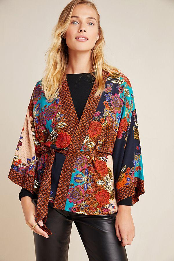 Slide View: 1: Willa Tie-Front Kimono