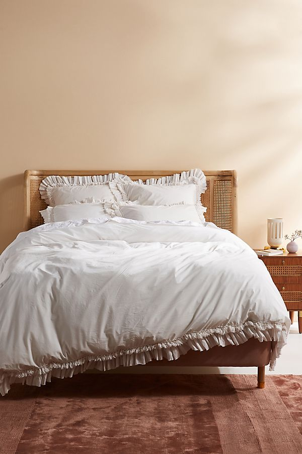 Slide View: 1: Washed Percale Adina Duvet Set