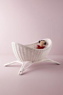 Wicker Doll Crib Anthropologie