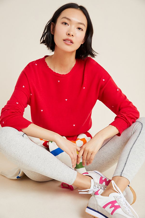 Slide View: 1: Sundry Hearts Embroidered Sweater
