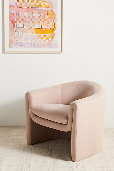 Linen Sculptural Chair