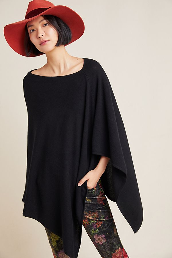 Slide View: 2: Classic Cashmere Poncho