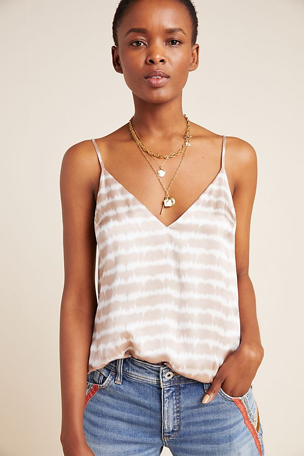 Slide View: 1: Olivia Tie-Dyed Silk Cami