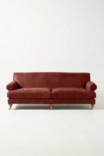 Willoughby Two-Cushion Leather Sofa