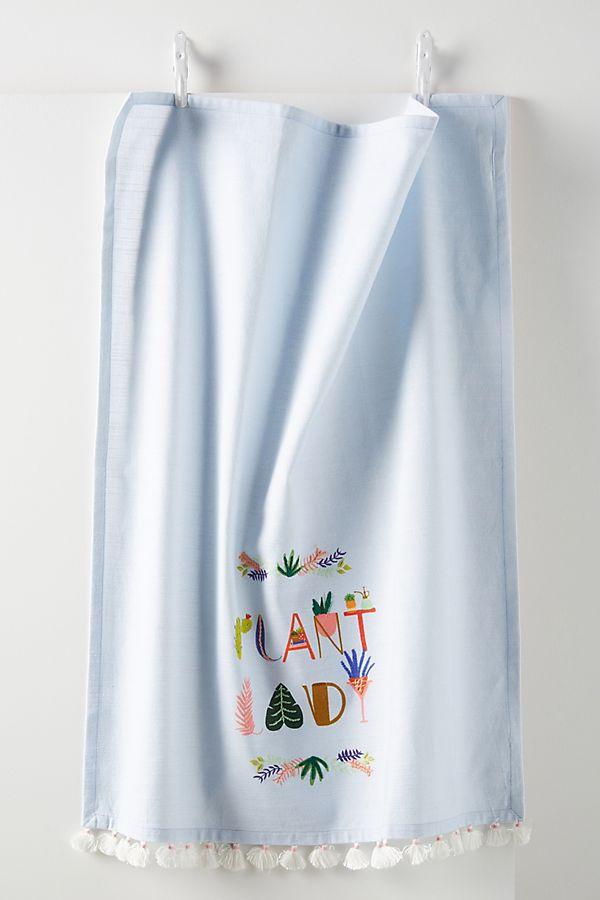 Slide View: 1: Black Lamb Studio Plant Lady Dish Towel