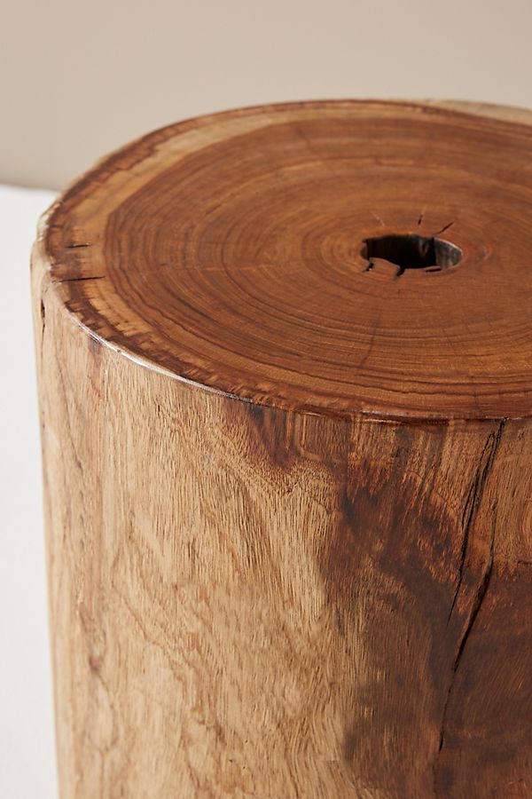 Live Edge Drum Side Table Anthropologie