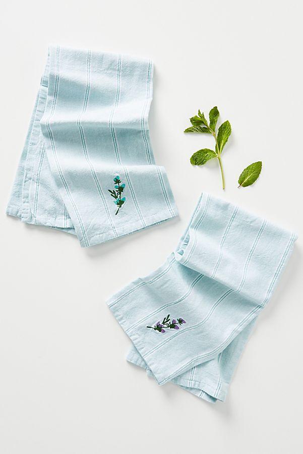 Slide View: 1: Elise Dish Towels, Set of 2