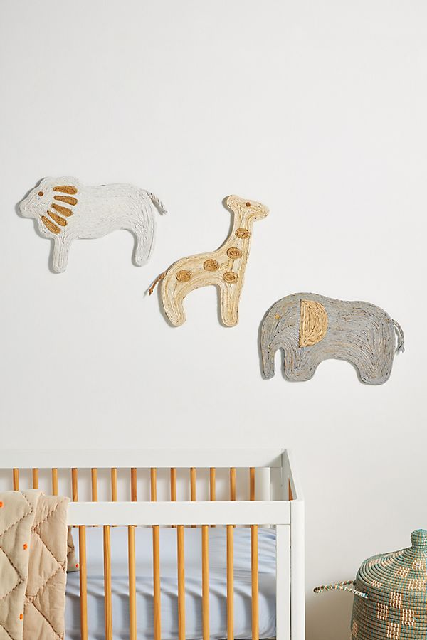 Slide View: 2: Safari Kids Wall Hanging