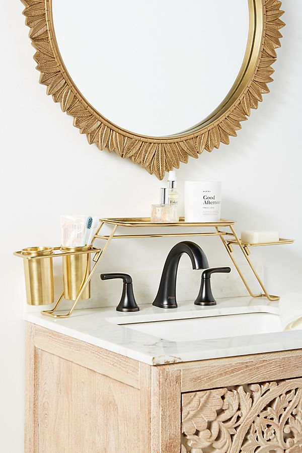 Slide View: 1: Bathroom Basin Shelf