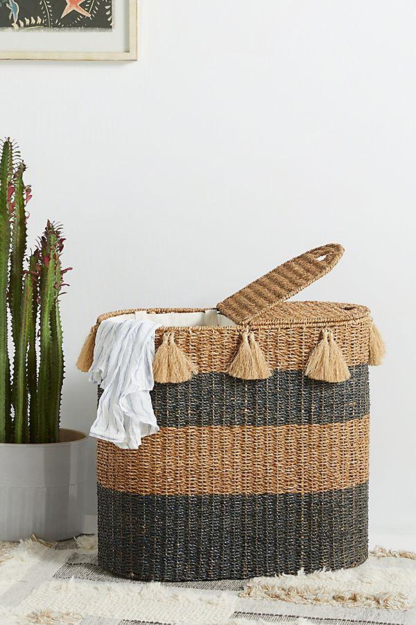 Slide View: 1: Seagrass Hamper Basket