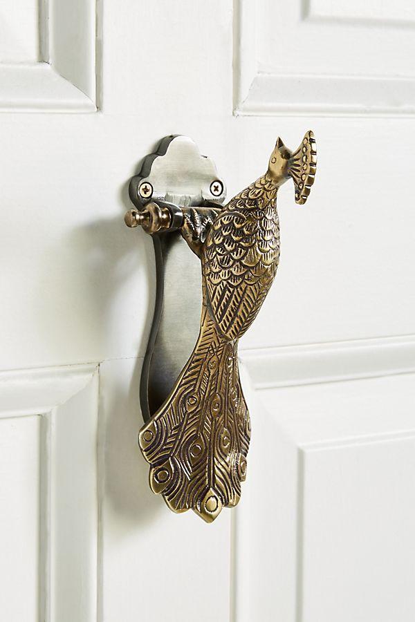 Slide View: 1: Ida Peacock Door Knocker