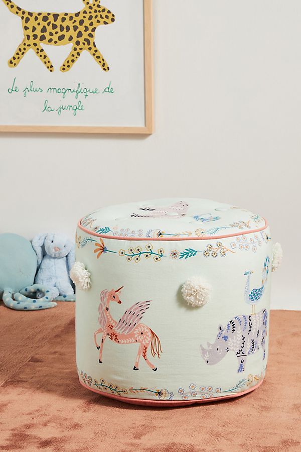Slide View: 1: Paper & Cloth Dreamland Pouf