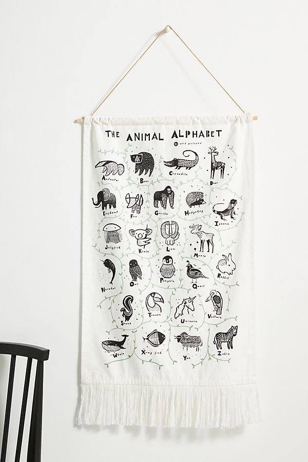 Slide View: 1: The Animal Alphabet Kids Wall Hanging