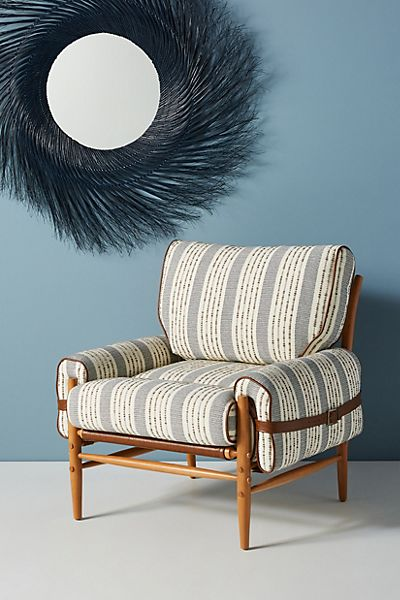 Striped Rhys Chair