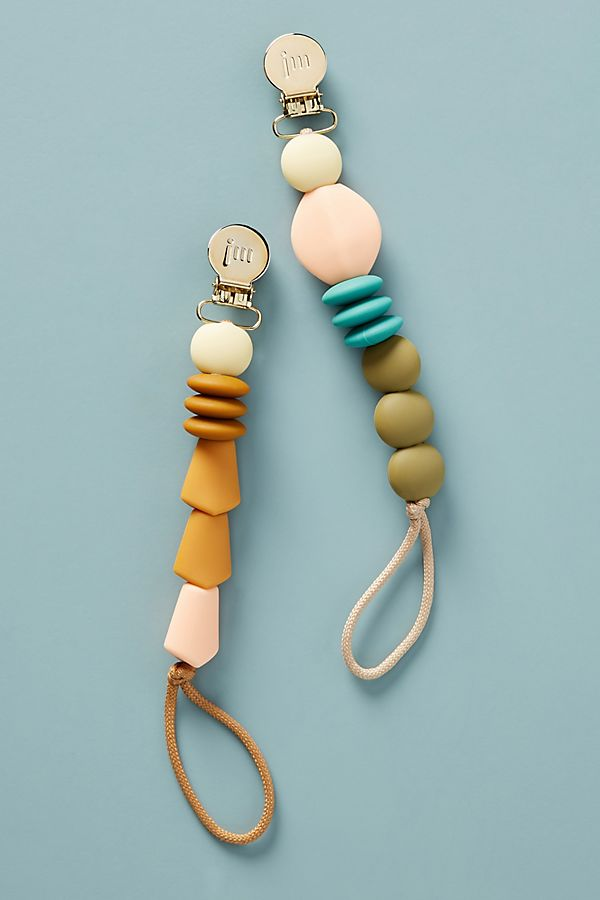 Slide View: 1: Beaded Pacifier Clip