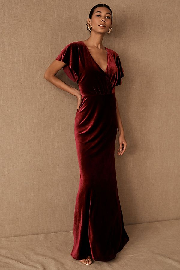 Slide View: 1: Jenny Yoo Ellis Velvet Dress