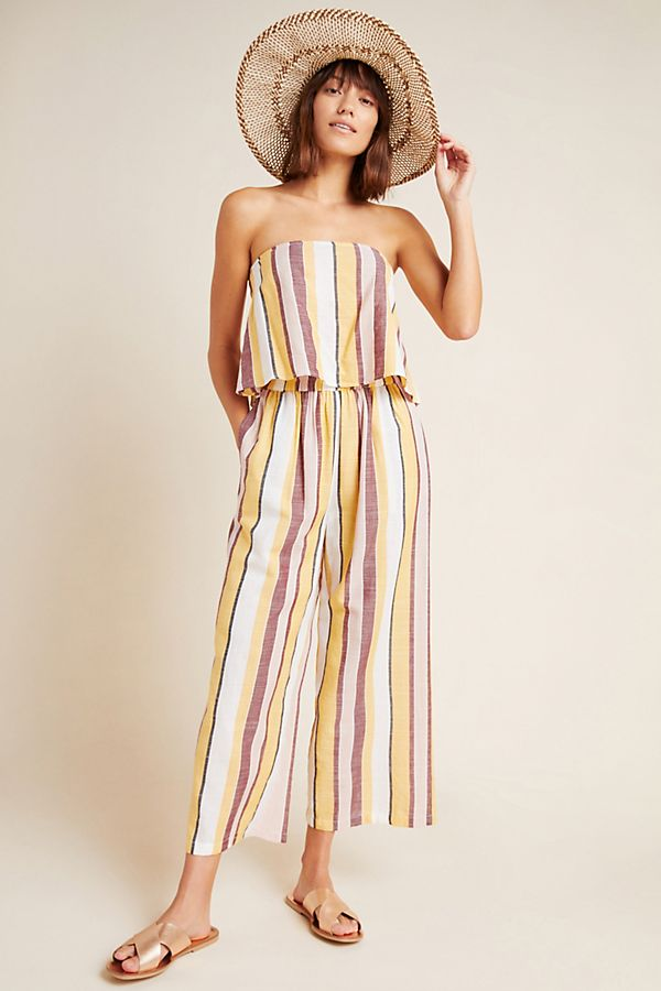 Slide View: 1: Seafolly Talia Striped Cropped Pants