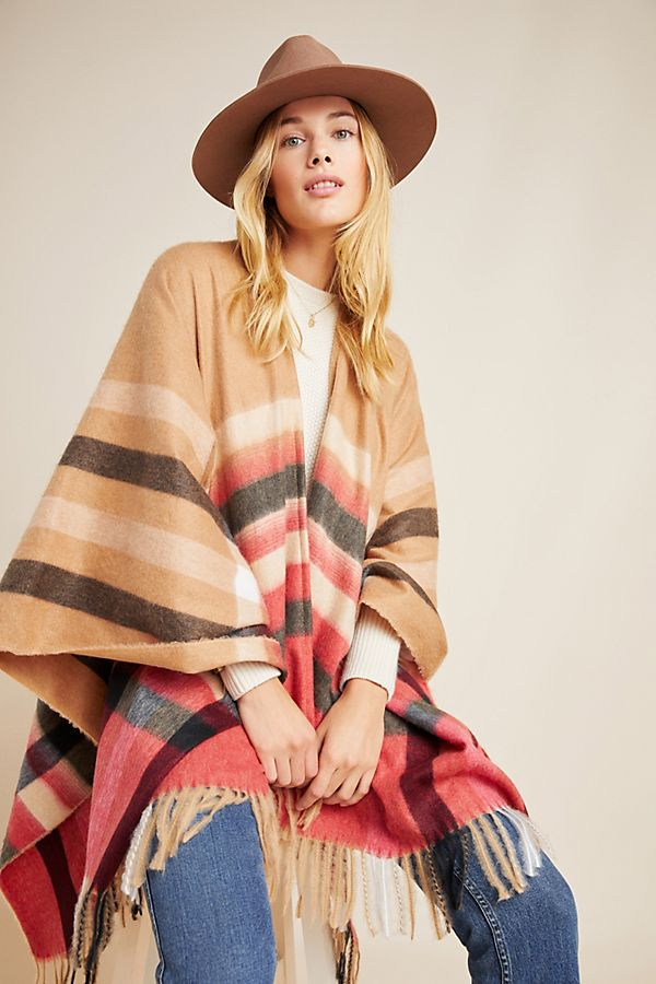 Slide View: 1: Indra Plaid Wrap