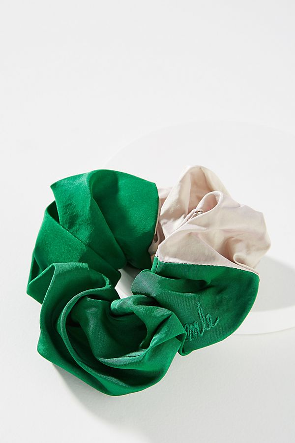 palm-silk-scrunchie by mle