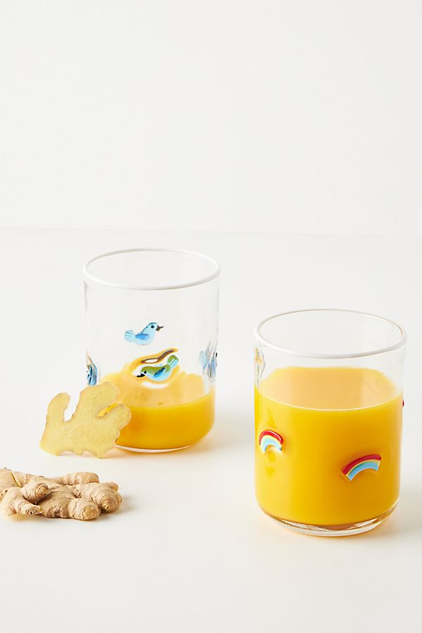 Slide View: 1: Sunshine Juice Glasses, Set of 4