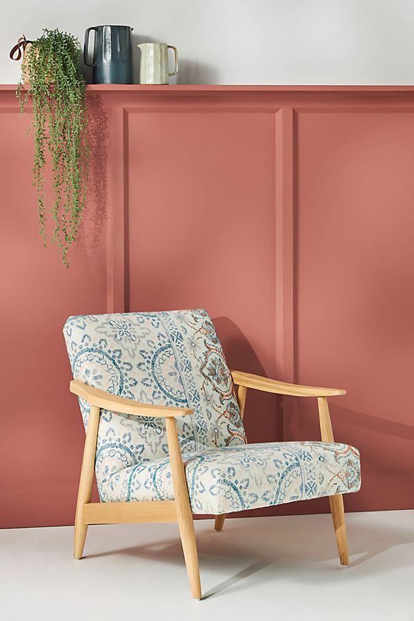 Slide View: 1: Rug-Printed Armchair