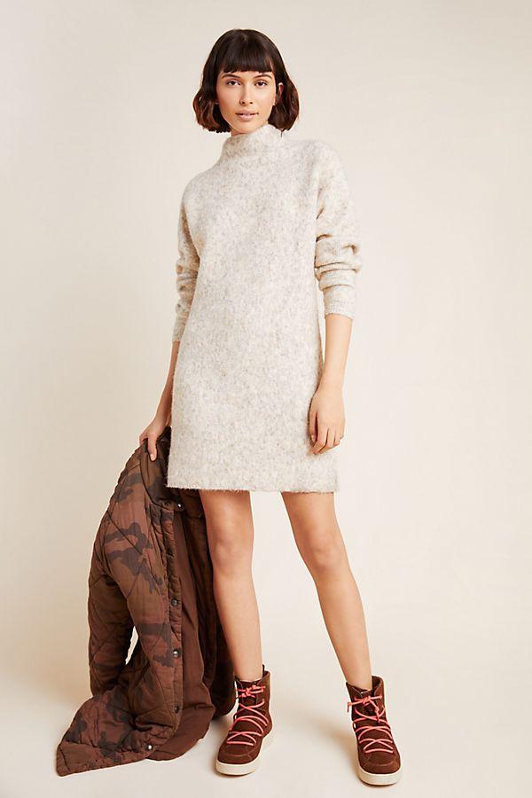 Slide View: 1: Maybelle Mock Neck Sweater Dress