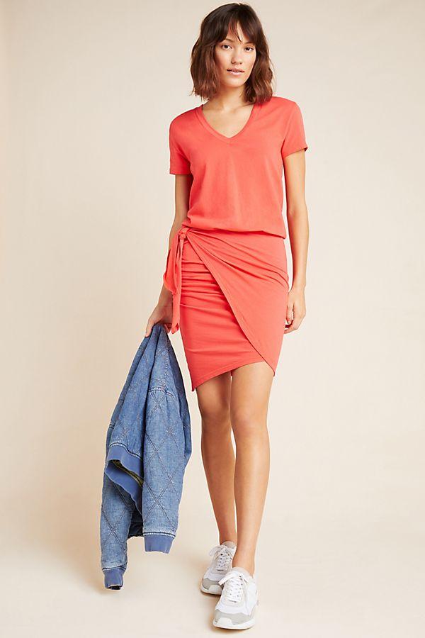 Slide View: 1: Sundry Tie-Waist Mini Dress