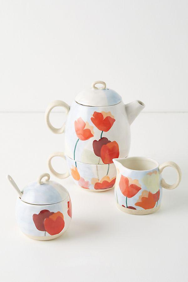 Slide View: 2: Tulip Tea-For-One Set