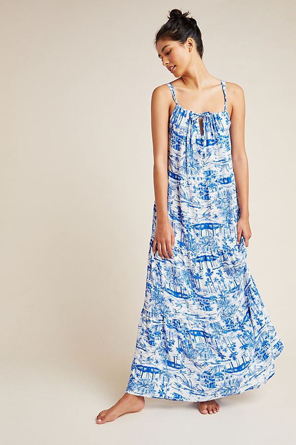 Slide View: 1: Anthropologie Jasmine Tiered Cover-Up Dress
