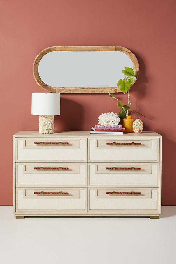 Slide View: 1: Dove Linen Six-Drawer Dresser