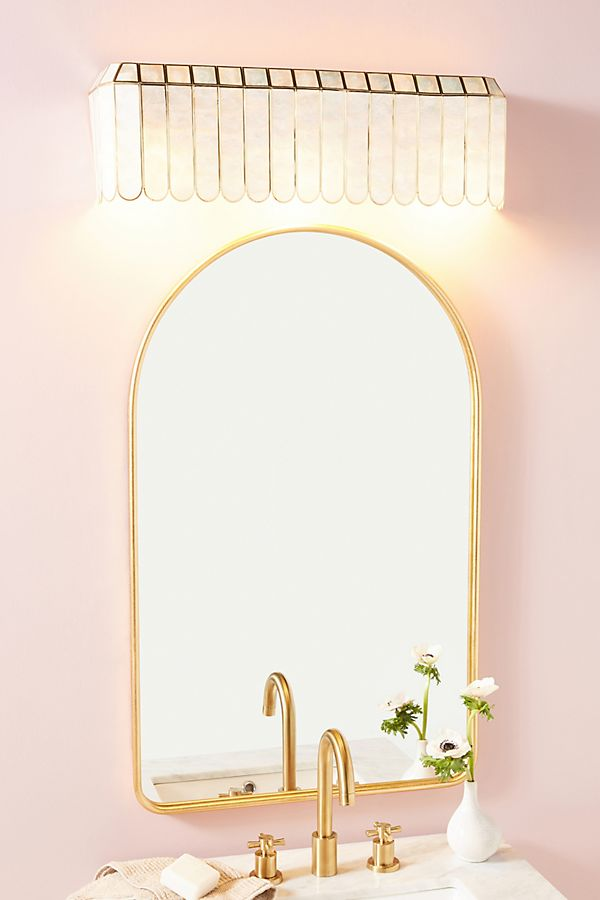 Slide View: 1: Madelyn Faceted Vanity Sconce