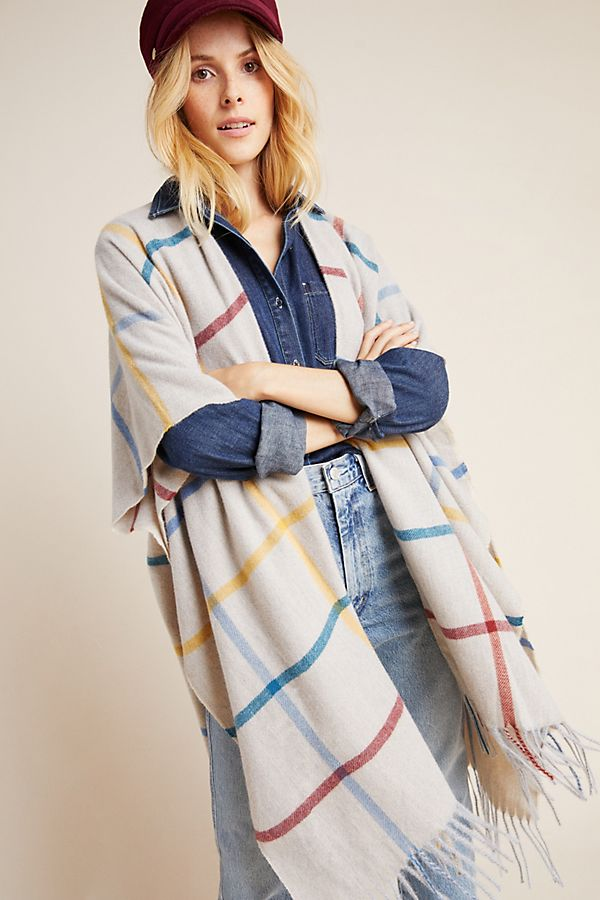 Slide View: 1: Blake Windowpane Kimono