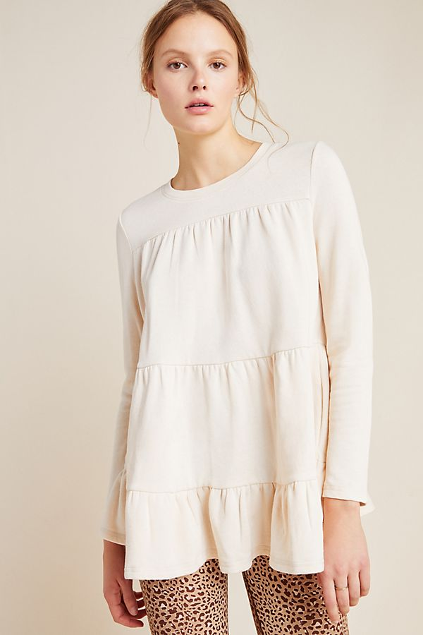 Slide View: 1: Lena Tiered Babydoll Top