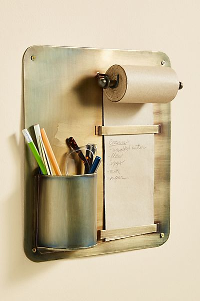 Wall-Mounted Scroll and Pencil Holder
