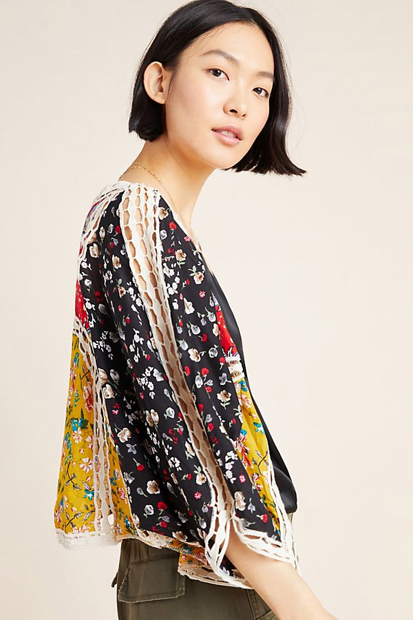 Slide View: 1: Eva Patchwork Kimono