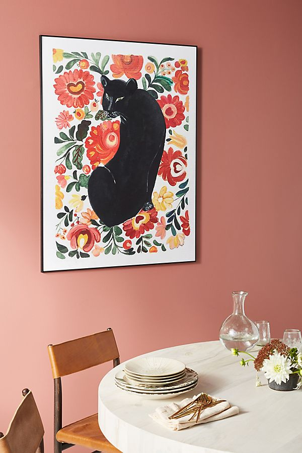 Slide View: 1: Frida's Panther Wall Art